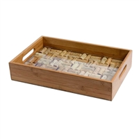Greenophile Bamboo Service Tray W/ Glass