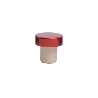 Aluminum Stopper, Red, Bulk