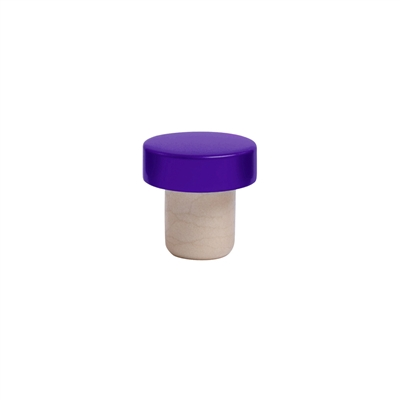 Aluminum Stopper, Purple, Bulk