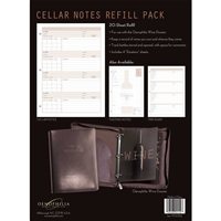 Wine Dossier Cellar Notes, 20-Sheet Refill