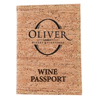 Custom Wine Passport W/ Cork Cover In Display