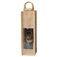 Jute Vino-Sack, One Bottle with Window