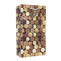 Wine Bag 2-Bottle, Corks