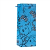 Wine Bag, Teal/Black Floral