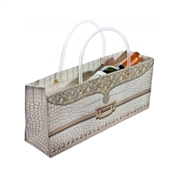Purse Tote, Ivory Gator