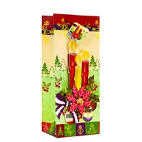 Holiday Poinsettia Candles Bag