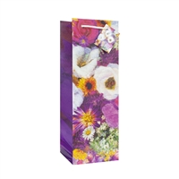 Wine Bag, Misty Flowers