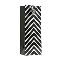 Wine Bag, Black Chevron