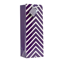 Wine Bag, Purple Chevron