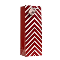 Wine Bag, Burgundy Chevron