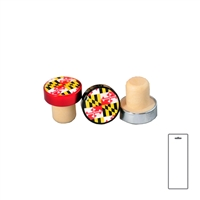 MD Flag Aluminum Top Bottle Stopper, Carded
