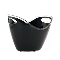 Oval Wine Bucket Small, Black