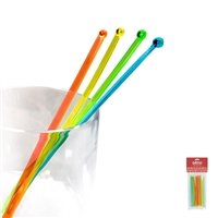 Beverage Stirrers, Translucent, 25-Count, Carded