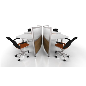 Curvilinear-Office Desks and Chairs