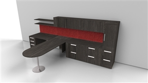 Private Office Desk and Drawers