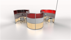 Curvilinear Office Desks