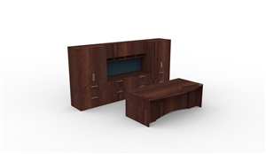 Boardwalk casegood suite office desk