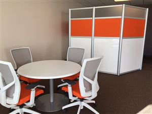 Circular Office Table and 4 chairs