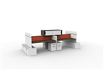 Caseworks Office Desk Set of 4