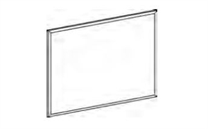 "FSPF2024,Treo, 24""H Post Mounted Fabric Screen, 18.5W"