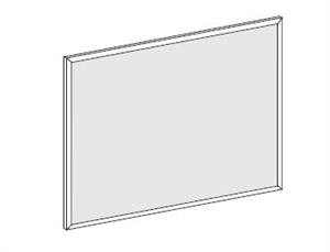 "FSPP2024,Treo, 24""H Post Mounted Pebbled Acrylic Screen, 18.5W"