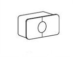 GC3000,Treo, Rectangular Cable Grommet (installed), 3.5 x 2