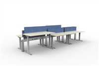 Fence & Height Adj Tables - 6 Pack Linear, Double Sided