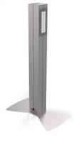 "Hitch'n Post, 36"" Tall, Single Sided, 3 Power/2 USB"