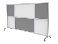 "Mix Screen, 100""W x 52""H, Casters, Grade 1 Finishes"