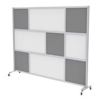"Mix Screen, 100""W x 76""H, Casters, Grade 1 Finishes"
