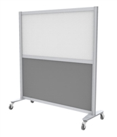 "MIX Screen, Base Plate with Casters, 54""H x 48""W (Grade 1 Finishes)"
