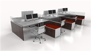 W-01  8290 - Runway Computer/Trading Desk with Height Adjustability