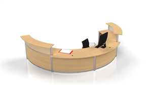 Curved & Stepped Reception Station