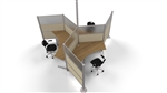Post & Beam 120 Degree Workstations with Wing Panels