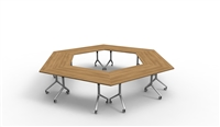 Twist Tables - Six Pack ,Trapezoid Surfaces, Hexagon