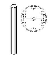 "XPAO8A13, 13""H Round 8A Post (3"" Diameter) 90/120, Add-on"