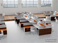 Runway with Height Adjustable Tables