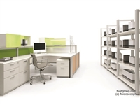 Quattro Open Plan Workstations and Shelving