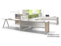 Quattro Open Plan Workstations