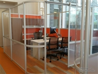 Enclosed private office with sliding door