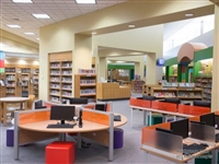 Library touch-down workstations