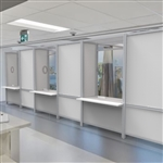 Healthcare Booths - Connected with Spacers