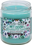 Pet Odor Exterminator Candle - Sugar Skull