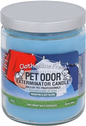 Pet Odor Exterminator Candle - Clothesline Fresh