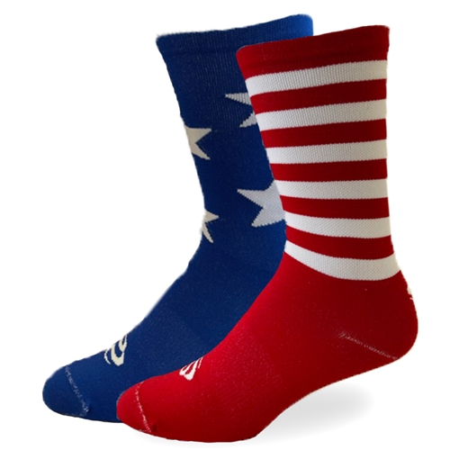 "SOS Socks - 'Merica 7"" - See Me Green (Save Our Soles Specializes in Custom Socks and Cycling Socks for the Performance Athlete)"