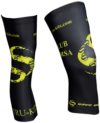 Club Corsa - Knee Warmers - Logo - Black/Lime