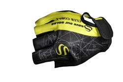 Club Corsa - Short Glove - Logo - Black/Lime