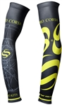 Pro Corsa - Arm Warmers - Morse Code - White/Lime
