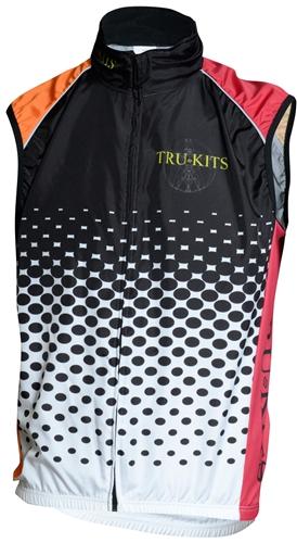 Trui Vest.Sport Corsa Summer Vest Mesh Dots Orange Red