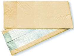 Night Dry Underpads, 23X36, Heavy Fluff with Polymer, Peach Backing (EXUP2336)